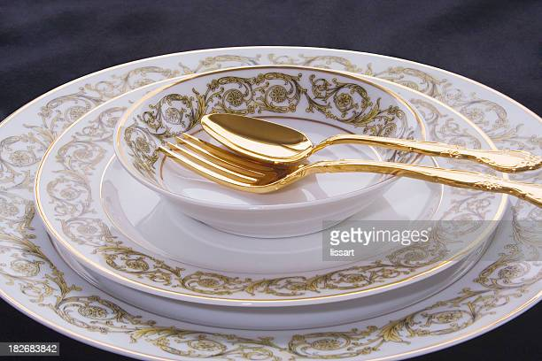 china place setting - porcelain stock pictures, royalty-free photos & images