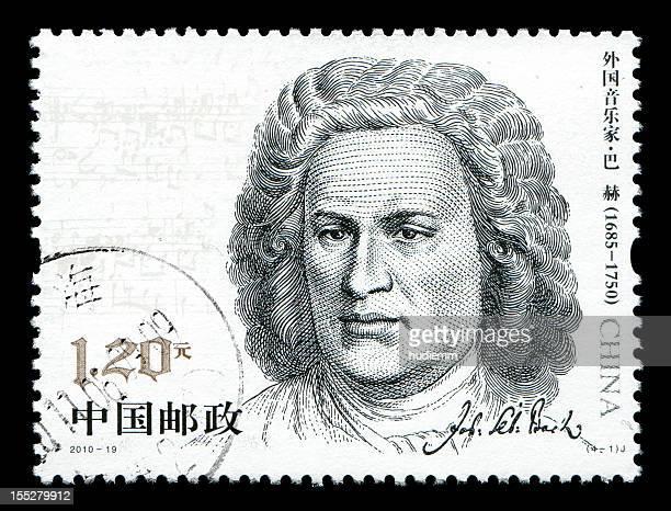 China postage stamp:Johann Sebastian Bach