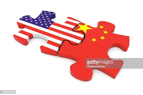 USA China Puzzle Concept