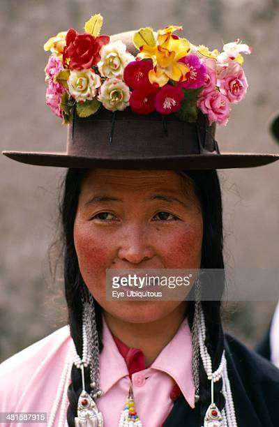 China Quinghai Huzhu County Portrait of Tu Nat Yellow Hat Buddhist