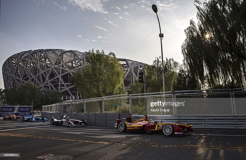 China Racing driver Ho Ping Tung in action during the inaugral FIA Formula E Bejing ePrix Championship on September 13, 2014 in Beijing, China. The electric car racing series, is backed by many of the major sponsors of the main Formula One circuit, and is set to be hosted in nine other cities worldwide.