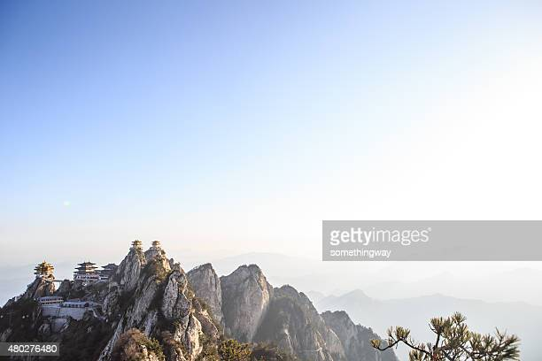china sacred taoist laojun mountain temples - henan province stock photos and pictures