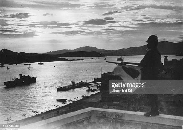China Second SinoJapanese War 19371945 Japanese occupation of Amoy on the Formosa Strait A Japanese guard June 1938 Vintage property of ullstein bild