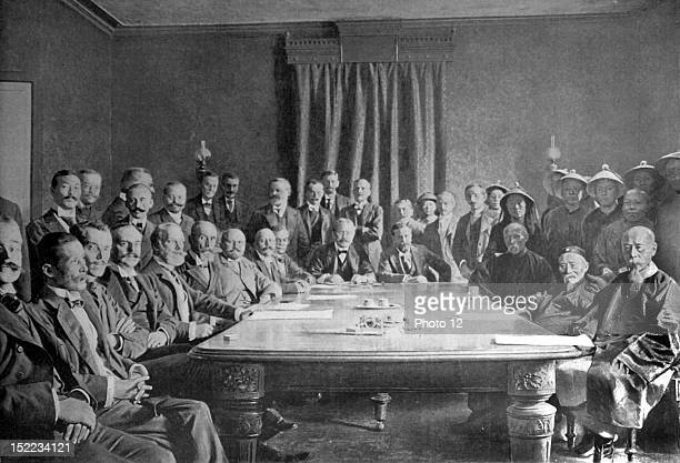 China September 7 Boxer Rebellion The signing of the 'Peking Protocol' by the plenipotentiaries at the Spanish legation
