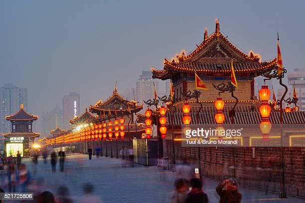 China, Shaanxi, Xian, City wall