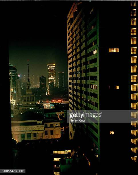 China, Shanghai, cityscape at night