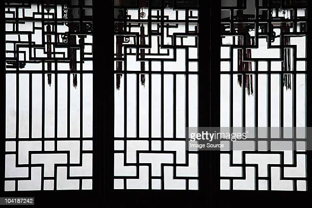 China, shanghai, detail of building in yu garden