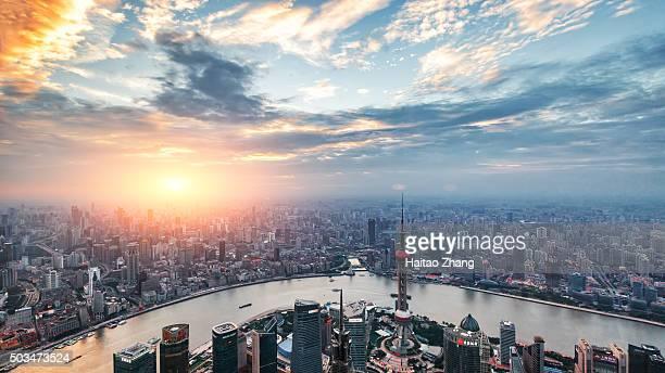 China Shanghai  dusk