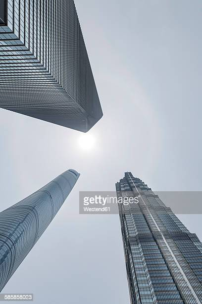 China, Shanghai, Jin Mao Building, World Financial Center and Shanghai Tower