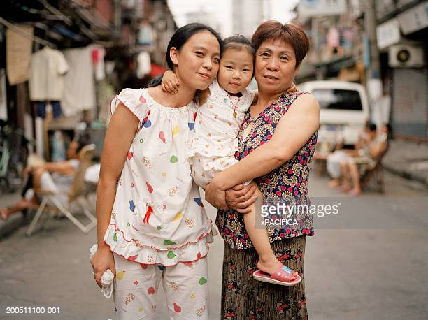 China, Shanghai, mother, daughter and grandmother, portrait
