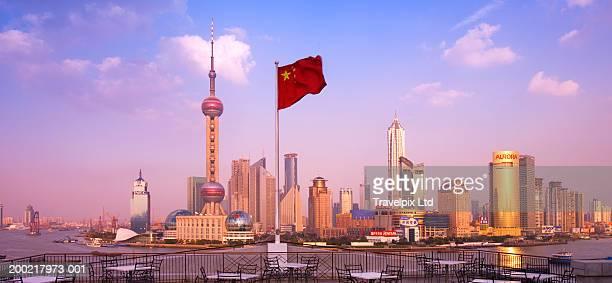 China, Shanghai, Pudong, city skyline and Huangpu River
