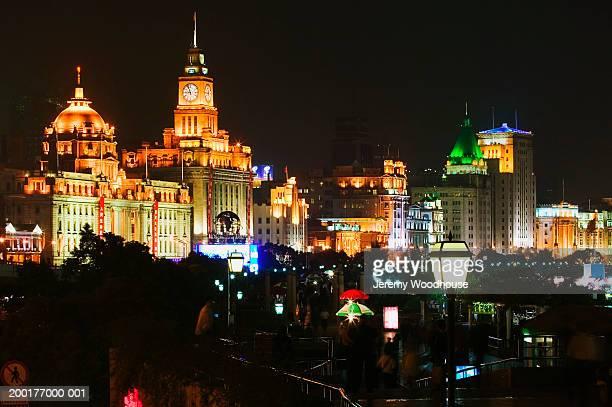 China, Shanghai, The Bund, night