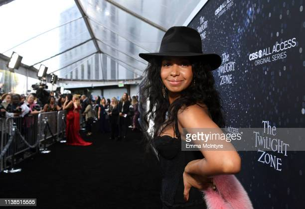China Shavers attends CBS All Access new series The Twilight Zone premiere at the Harmony Gold Preview House and Theater on March 26 2019 in...