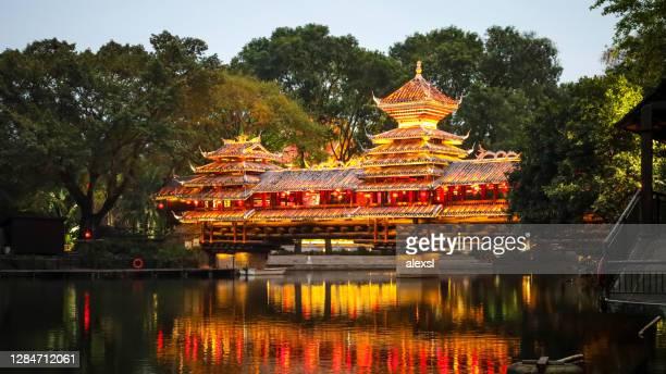 china shenzhen lantern lights pagoda - shenzhen stock pictures, royalty-free photos & images
