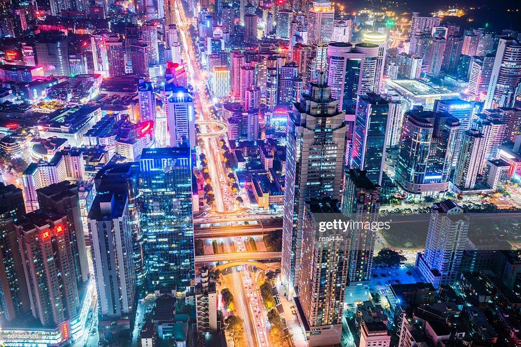 China shenzhen Skyscraper : Stock Photo