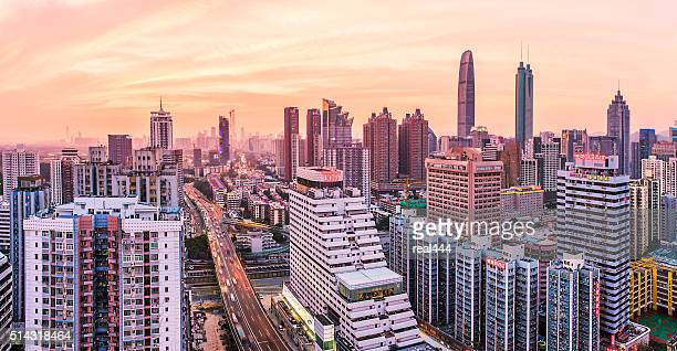 china shenzhen skyscraper - guangdong province stock photos and pictures