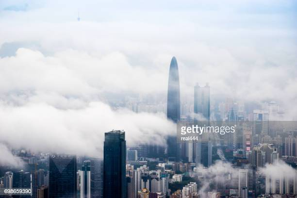 china shenzhen skyscraper - shenzhen stock pictures, royalty-free photos & images