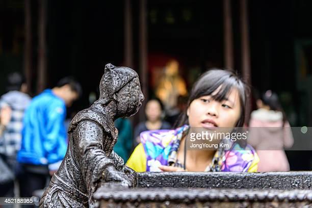CONTENT] China Sichuan Asia Chengdu wuhouci history legend curiosity girl Wuhou Memorial Temple bronze statue wet tear figurine