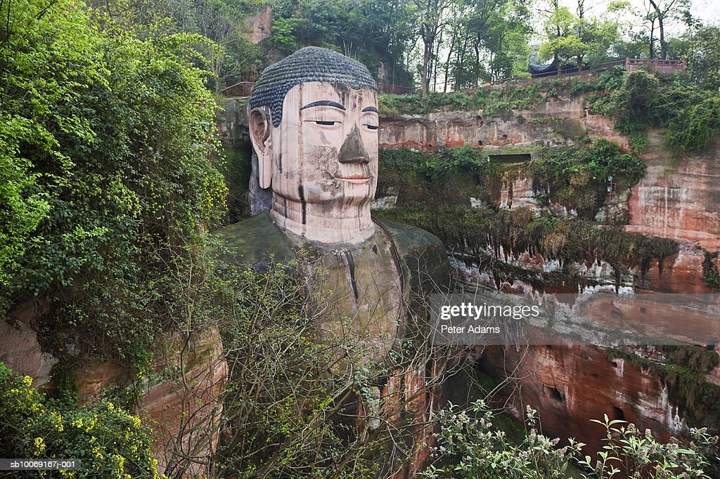 China, Sichuan, Leshan, Grand Buddha, close-up : Stockfoto