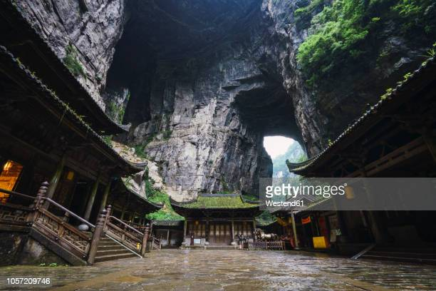 China, Sichuan Province, Wulong Karst, traditional houses, entrance