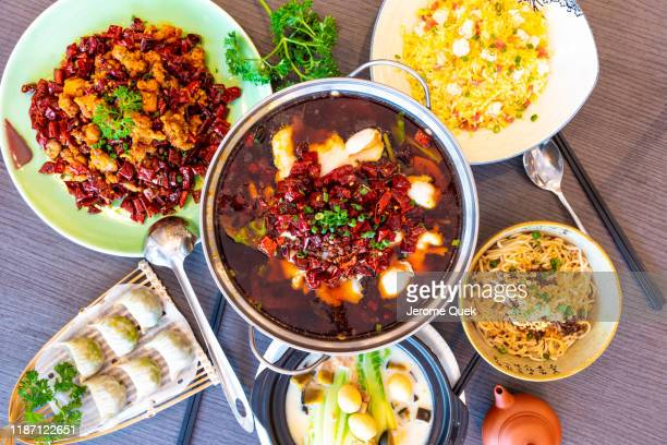 china sichuan spicy dishes - 四川省 ストックフォトと画像