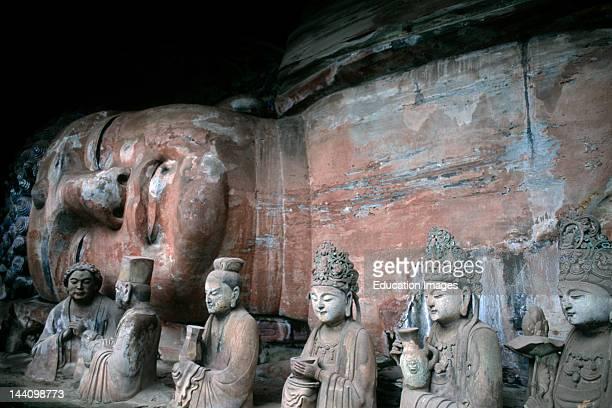 China Stone Carvings Of Baobing Buddha Pilgrims At Dazu
