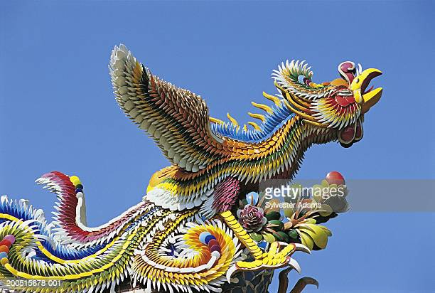 china, taiwan, taipei,  confucius temple, mythical phoenix - phoenix bird stock pictures, royalty-free photos & images
