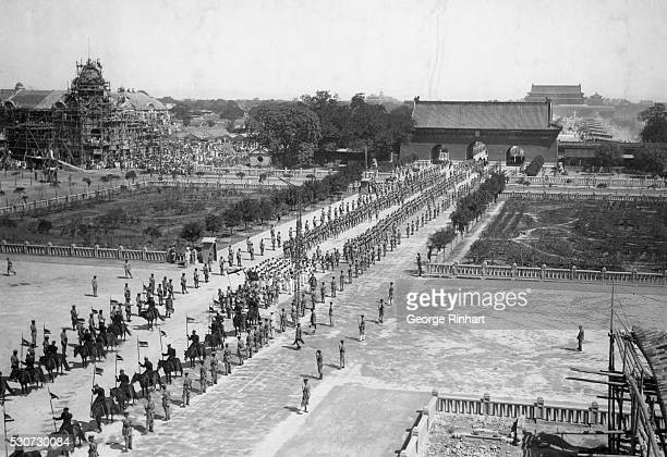 The funeral of the late Yuan Shi Kai July 4 1916 These photos were made from the top of the Peking Wall at the American Compound At the same time of...
