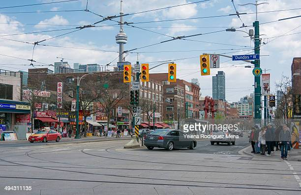 china town in toronto, canada - chinatown stock pictures, royalty-free photos & images