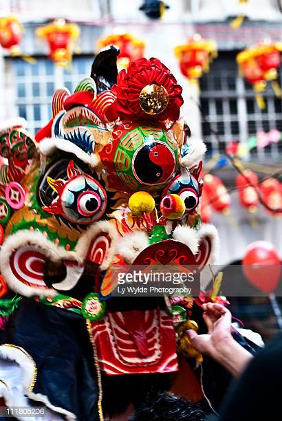 china town, london - chinese new year stock pictures, royalty-free photos & images