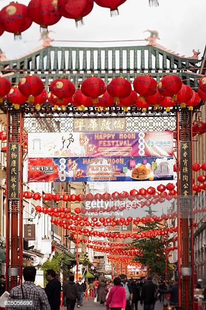 china town, london, united kingdom - chinatown stock photos and pictures