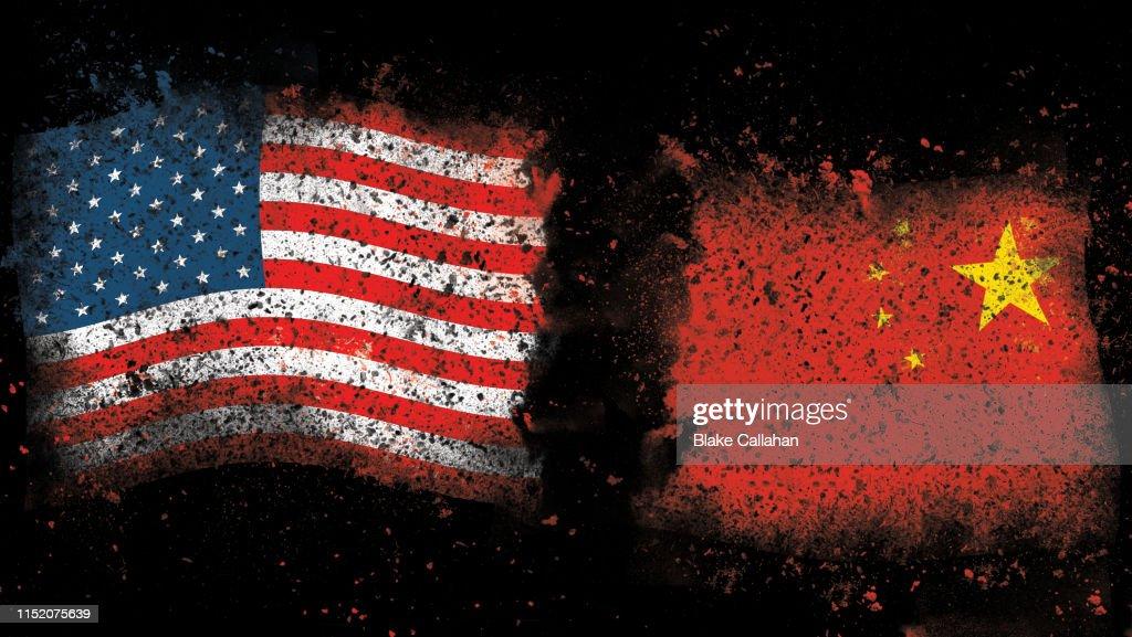 USA China Trade war theme : Stock Photo