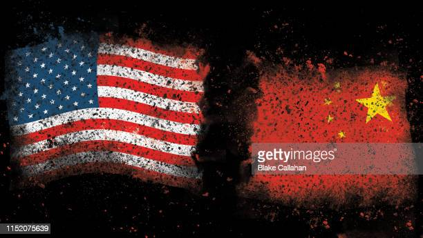 usa china trade war theme - us china trade war stock pictures, royalty-free photos & images