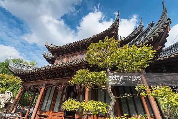 China traditional pagoda temple Yuyuan Garden Shanghai