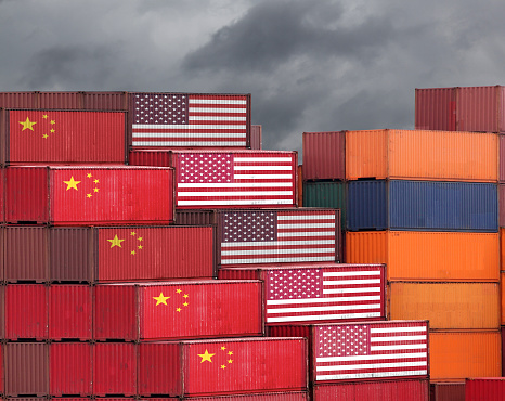 China USA trade war tariff cargo container export import shipping 1024018806