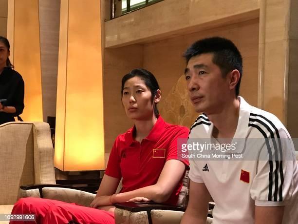 China volleyball star Zhu Ting and China coach An Jiajie in Macau for the FIVB World Grand Prix 13JUL17 Photo / Chan Kinwa#10