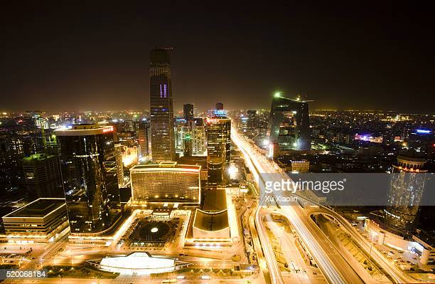 China World Trade Center and CCTV Tower at Night