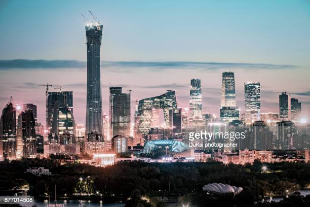 china world trade center (beijing cbd) - international landmark stock pictures, royalty-free photos & images