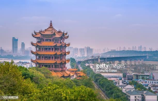 China, Wuhan City, Yellow Crane Tower.