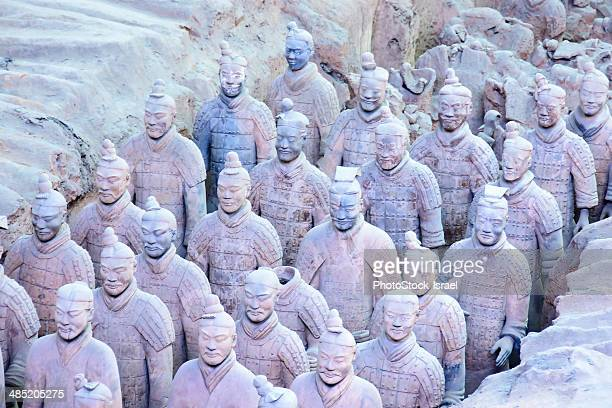 China, Xian Shaanxi, Army of Terracotta Warriors in Emperor Qin Shi Huang's Tomb