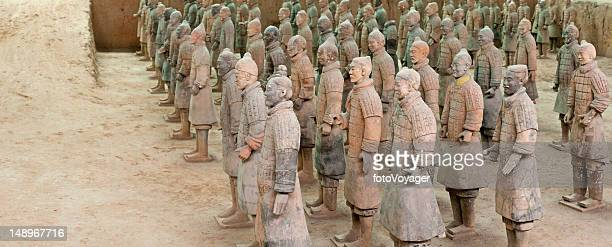 China Xi'an Terracotta Army Warriors pit panorama