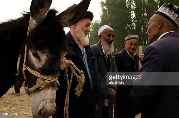 China Xinjiang Uyghur Kashgar or Kashi sunday market
