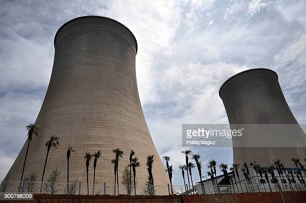 China, Yunnan, Giant smoke stacks