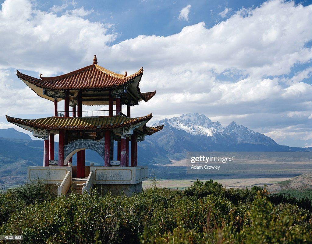 China, Yunnan Province, Jade Dragon Snow Mountain (Yulong Mountain) : Stock Photo