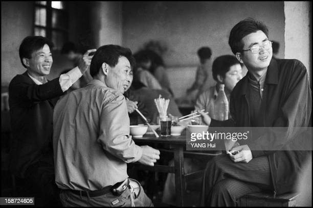 CONTENT] China Zhejiang Province Xinshi Village in the early morning people eat a mutton noddles soup with alcool as a tradition This photo has been...