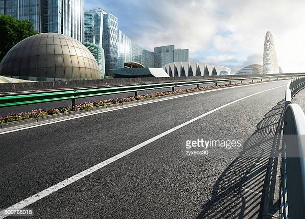 China,Beijing's business district and urban road.