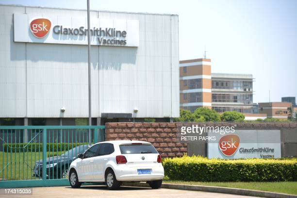 ChinaBritaincorruptionpharmaceuticalGSK by Bill SAVADO Photo taken on July 23 2013 shows British pharmaceutical giant GlaxoSmithKlines factory in...
