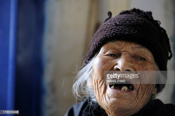 ChinahealthpeopleageingsocialFEATURE This picture taken on January 22 2013 shows Xu Yuhe one hundred and three year old elderly woman talking in...