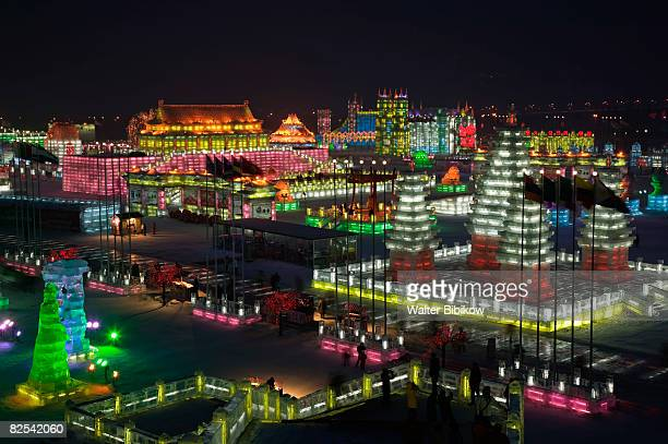 china-heilongjiang-haerbin (harbin): ice and snow  - harbin ice festival stock pictures, royalty-free photos & images