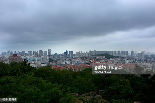 China-Japan-Germany-WWI-APEC-summit,FOCUS BY KELLY OLSEN This picture taken on July 24, 2014 shows the skyline looking out from a fort built by...